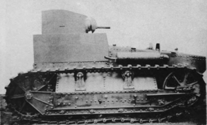 T1 Light Tank - The original T1 prototype, shown here with a wooden mockup turret.