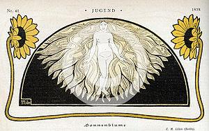 Ephraim Moses Lilien - Image: Lilien Sonnenblume