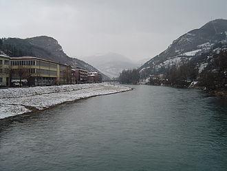 Lim (river) - Lim flowing through Prijepolje.