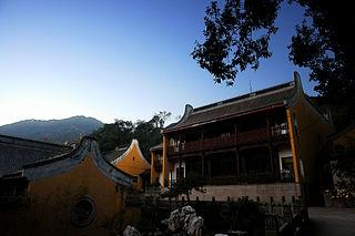 Lingyin Temple building in Hangzhou, China