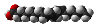 Linoleic acid - Image: Linoleic acid from xtal 1979 3D vd W