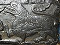 Lion- carving on font, Lincoln.JPG