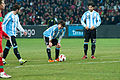 Lionel Messi getting ready to shoot a free kick – Portugal vs. Argentina, 9th February 2011 (1).jpg