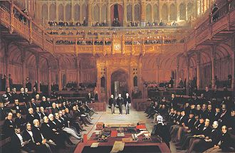Lionel de Rothschild - Lionel Nathan de Rothschild introduced in the House of Commons on 26 July 1858 by Lord John Russell and Mr John Abel Smith by Henry Barraud, 1872.