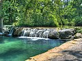 Little Niagra Falls on Travertine Creek, Sulphur Oklahoma - panoramio.jpg