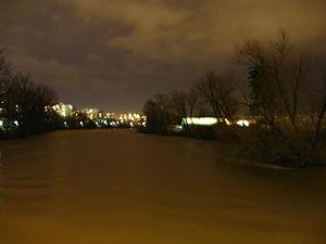 Ljubljanica - Image: Ljubljanica noč