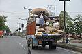 Loaded Truck - Barrackpore Trunk Road - Kamarhati - North 24 Parganas 2012-04-11 9469.JPG