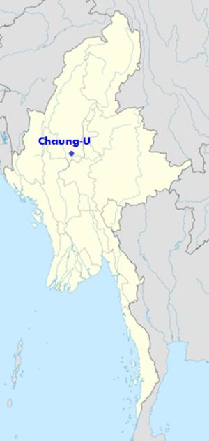 Chaung-U - Image: Location of Chaung U in map