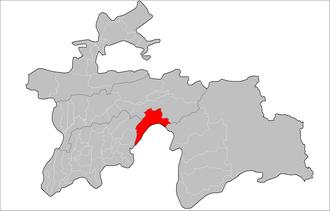 Darvoz District - Image: Location of Darvoz District in Tajikistan
