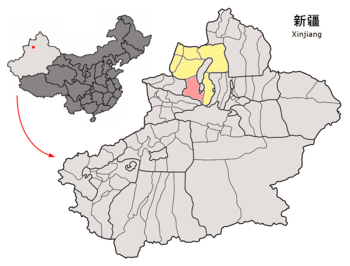 Location of Wusu within Xinjiang (China).png