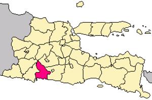 Tulungagung Regency - Image: Locator kabupaten tulungagung