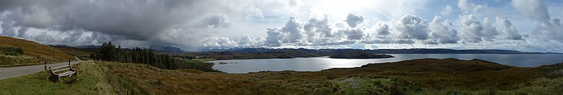 Panoramic view of the southern end of Loch Ewe