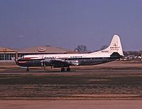 Lockheed L-188A Electra компании Braniff Airways