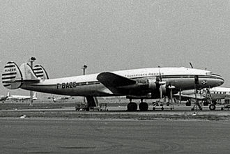 Air Algérie - A France-registered Lockheed Constellation in Air Algérie markings at Paris Orly Airport in 1957.