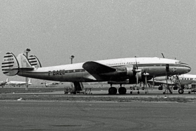 Lockheed L749A F-BAZE Algerie ORY 31.05.57 edited-3