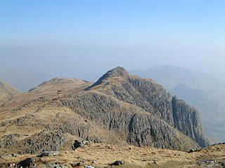 Loft Crag mountain in United Kingdom