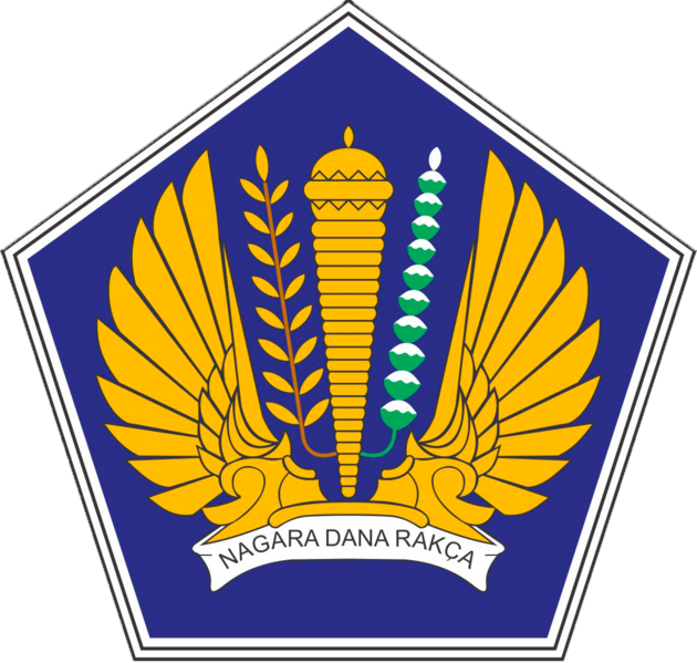 Berkas:Logo of the Ministry of Finance of the Republic of Indonesia.png