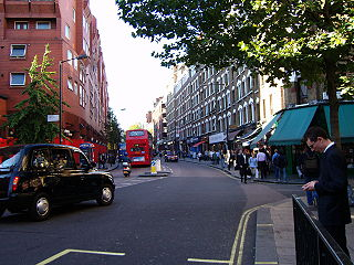 Charing Cross Road street in central London