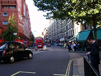 Charing Cross Road - Charing Cross Road, London, looking north from its junction with Cranbourn Street
