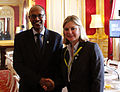 London Conference on Somalia 2013 Justine Greening with Somali finance minister (8716152725).jpg