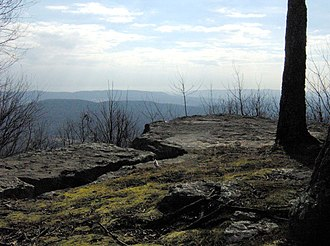 Lone Mountain State Forest - Coyote Point, on the south slope of Lone Mountain