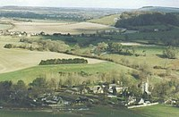 Looking down on Melbury Abbas - geograph.org.uk - 517758.jpg