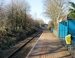 Looking west along the platform at Birchgrove railway station - geograph.org.uk - 1716416.jpg