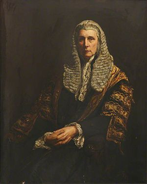 Roundell Palmer, 1st Earl of Selborne - Lord Selborne as Lord Chancellor, by Walter William Ouless.