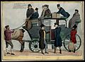 Lord Stanley holds open the door of a coach to Sir Francis B Wellcome V0050233.jpg