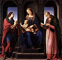 Lorenzo di credi, The Virgin and Child with St Julian and St Nicholas of Myra.jpg