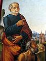 Lorenzo di credi (bottega) e pittore nordico, madonna col bambino e santi, 1500-10 ca., da s. pietro al terreno a brollo 02,2.JPG