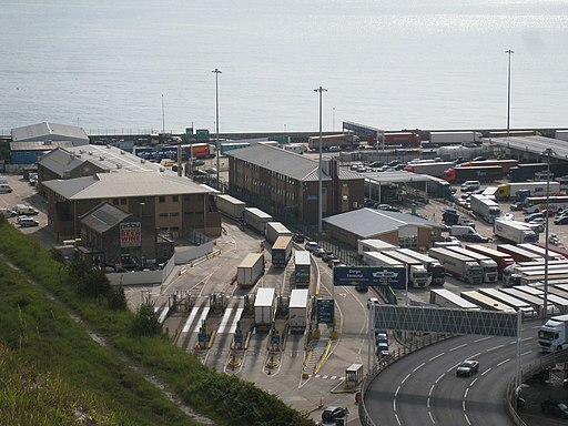 Lorries at Dover docks