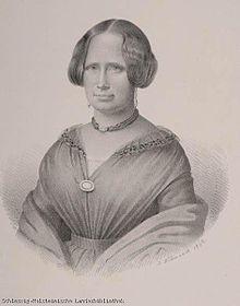 Louise Dahlmann geb. von Horn (*28. April 1800 in Ottensen; †9.Februar 1856 in Bonn) (Quelle: Wikimedia)