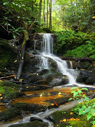 Mason-Dixon Trail - Upper Mill Creek Falls as seen from the Mason-Dixon Trail in York County