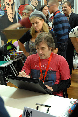 Mike Allred - Allred sketching at Lucca 2010