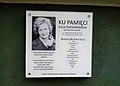 Lucja Danielewska plaque, Poznan, Wodna.jpg