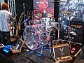 Ludwig transparent Drum-kit @ FUZZ Guitar Show 2009.jpg