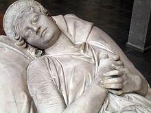 Zweite Fassung der Grabskulptur von Christian Daniel Rauch, Teilansicht (Quelle: Wikimedia)