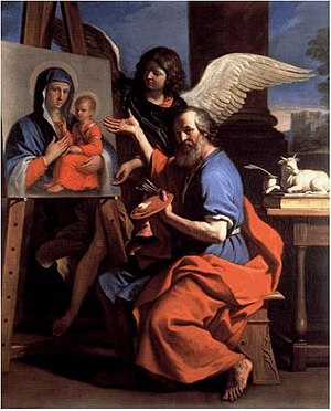 Accademia di San Luca - St. Luke Displaying a Painting of the Virgin by Guercino