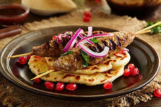 Kebab - A typical ground meat kebab known by various names, which exists in many world cuisines