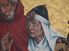 Besicles clouantes » au Moyen Âge (1466), retable des 12 apôtres  (Rothenburg, Allemagne) f457cad84f2f