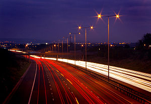 M60 motorway - The M60 at Cutler Hill, Failsworth.