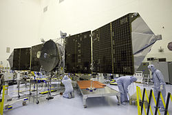 MAVEN in KSC's PHSF preparing for launch (KSC-2013-3636).jpg