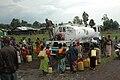 MONUSCO peacekeepers distributing drinking water, Rumangabo (10589770735).jpg