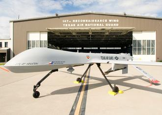 Texas Air National Guard - Image: MQ 1B Predator 147th Reconnaissance Wing Ellington Field Texas