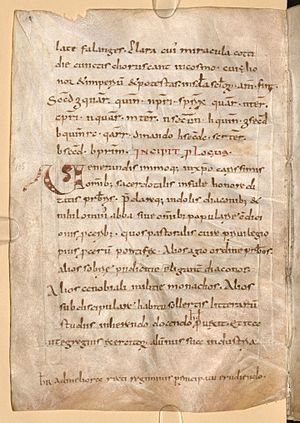 Hygeburg - MS Clm 1086, folio 71v. Includes the cipher with Hygeburg's name.