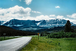 Mountain. Road.