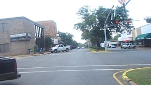Jonesboro, Louisiana - Another view of downtown Jonesboro on the Jimmie Davis Boulevard facing east
