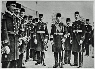 Black Sea Raid - Admiral Whilhelm Souchon and his officers in Ottoman naval uniforms