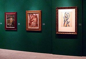 The European Fine Art Fair - Picasso's lining a wall at the fair in 2011